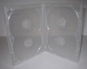 Amaray Hülle Transparent für 4 Disc