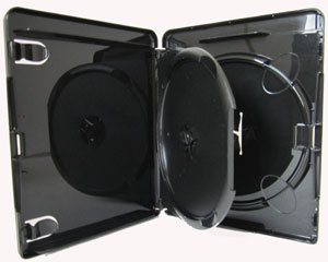 Amaray Blu Ray Hülle 14 mm Schwarz 4K ULTRA HD-Logo für 2 Disc