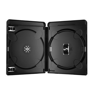 Amaray Blu Ray Hülle 14 mm Schwarz 4K ULTRA HD-Logo für 2 Disc FOF