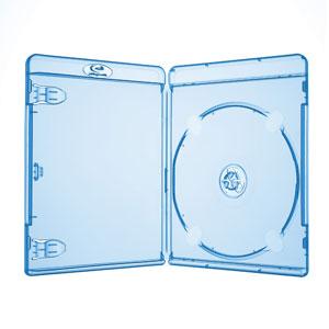 Blu Ray Hülle 11 mm Blau Transparent für 1 Disc